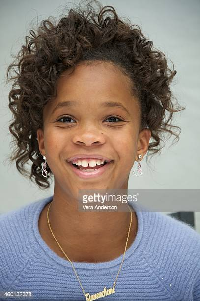 Quvenzhané Wallis at the 'Annie' Press Conference at The London Hotel on December 3 2014 in New York City