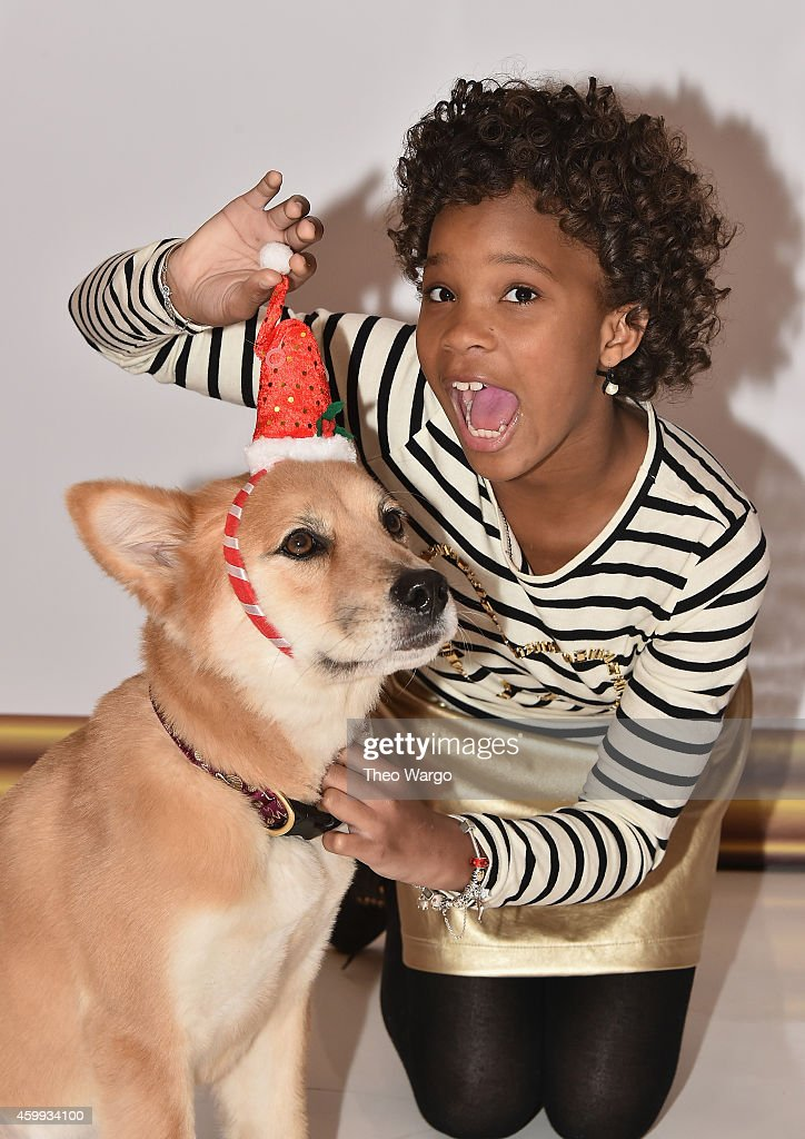 Quvenzhané Wallis attends the 'Annie' Cast Photo Call at Crosby Street Hotel on December 4 2014 in New York City
