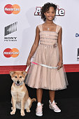 Quvenzhané Wallis attends the 'Annie' World Premiere at Ziegfeld Theater on December 7 2014 in New York City