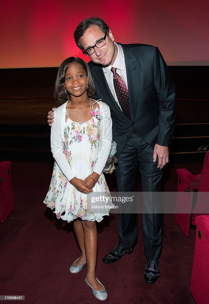 Quvenzhane Wallis and Bob Saget attends The Academy Of Motion Picture Arts And Sciences' 40th Annual Student Academy Awards Ceremony at AMPAS Samuel...