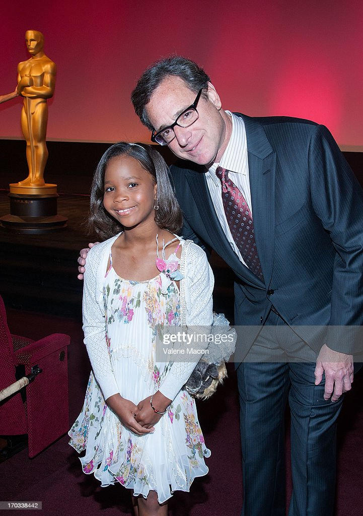 Quvenzhane Wallis and Bob Saget attends The Academy Of Motion Picture Arts And Sciences' 40th Annual Student Academy Awards Ceremony at AMPAS Samuel Goldwyn Theater on June 8, 2013 in Beverly Hills, California.
