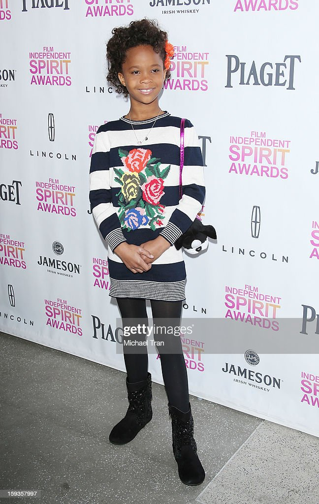 Quvenzhane Wallis arrives at the 2013 Film Independent Filmmaker Grant And Spirit Award nominees brunch held at BOA Steakhouse on January 12, 2013 in West Hollywood, California.