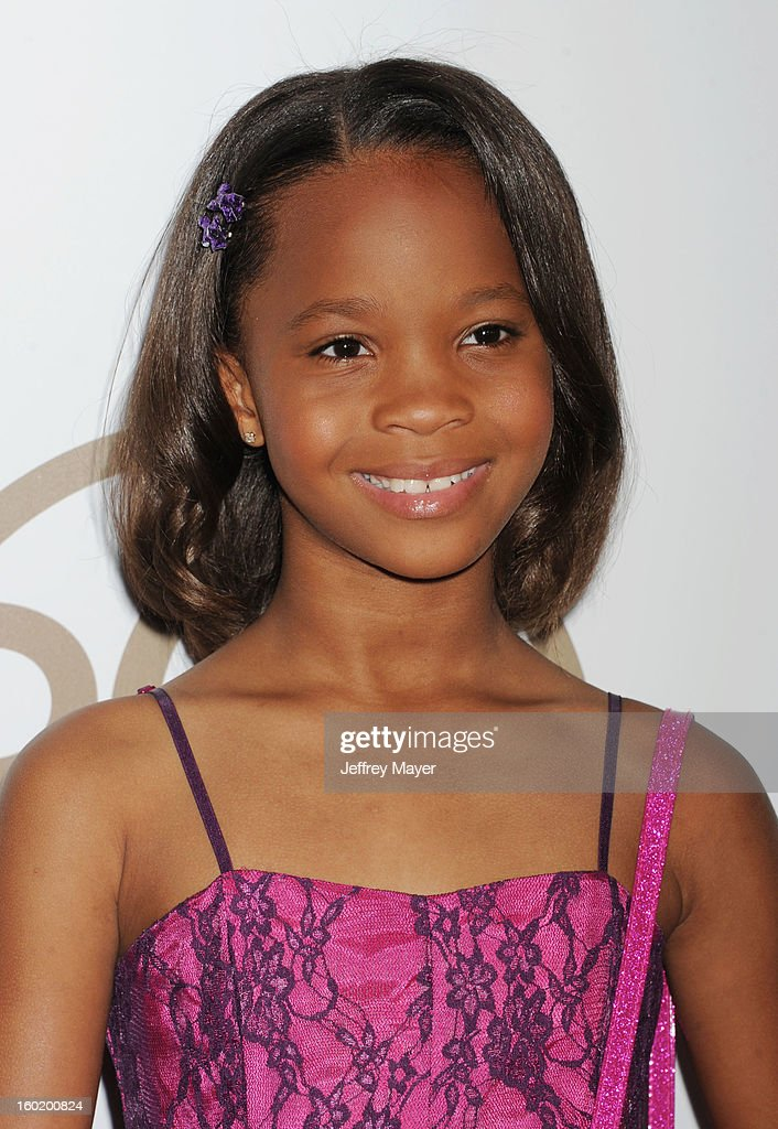 Quvenzhane Wallis arrives at the 24th Annual Producers Guild Awards at The Beverly Hilton Hotel on January 26, 2013 in Beverly Hills, California.