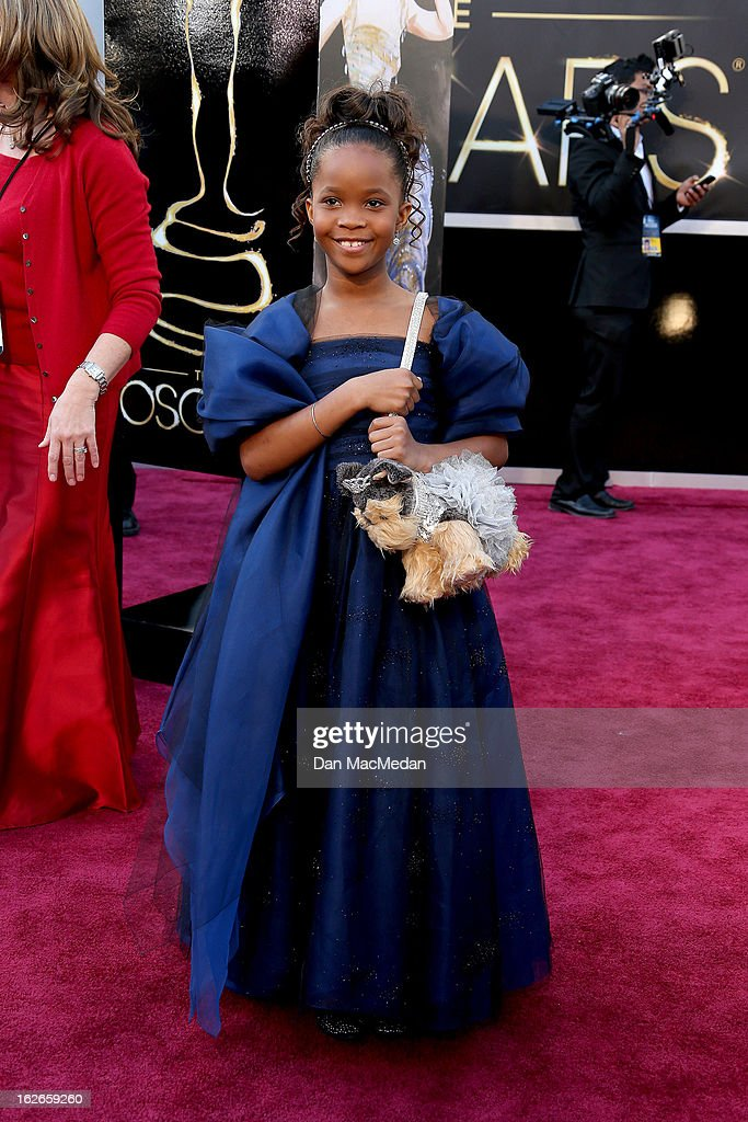 Quvenzhane Wallis arrives at the 85th Annual Academy Awards at Hollywood & Highland Center on February 24, 2013 in Hollywood, California.