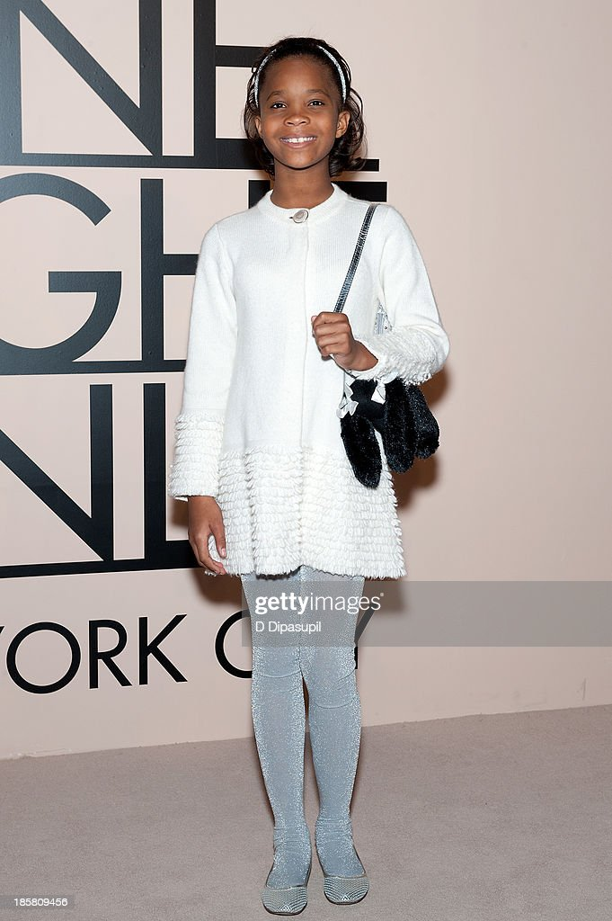 Quvenzhane Wallis attends Armani - One Night Only New York at SuperPier on October 24, 2013 in New York City.