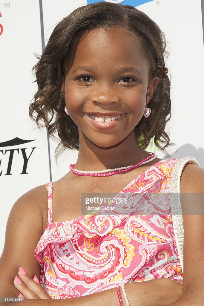 Quvenzhane Wallis attends Flips Audio At Variety Power of Youth at Universal Studios Backlot on July 27, 2013 in Universal City, California.