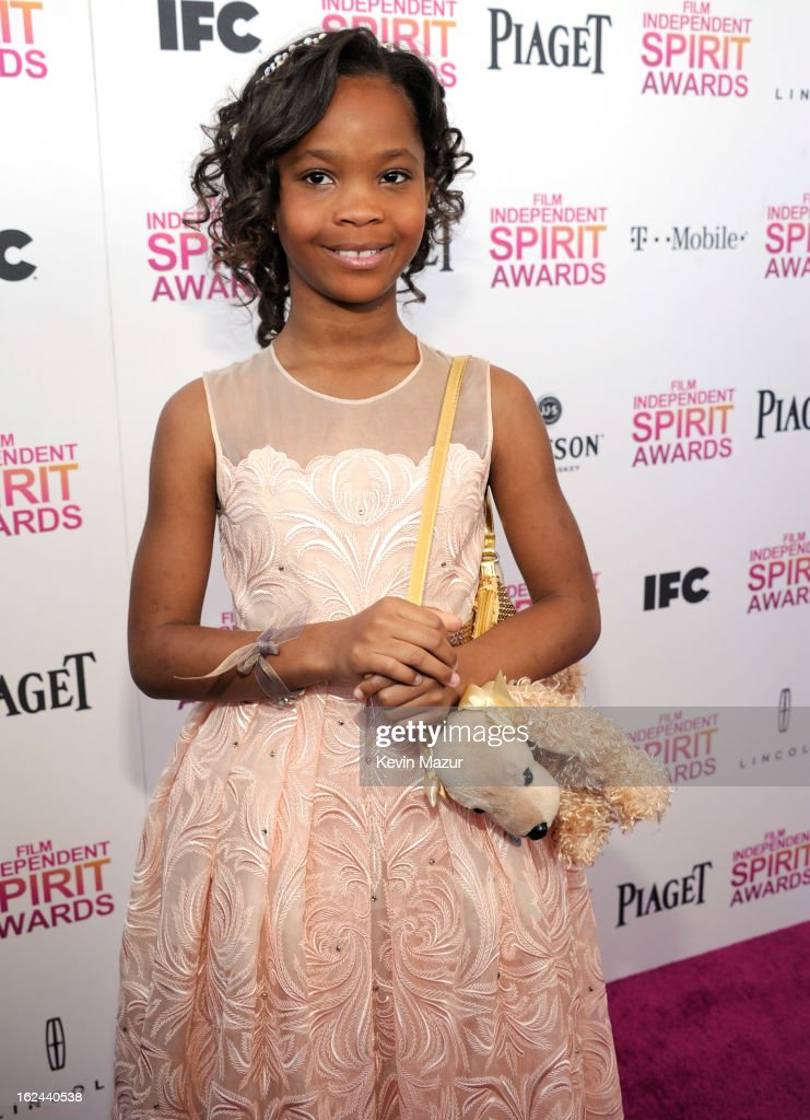 Quvenzhane Wallis attends the 2013 Film Independent Spirit Awards at Santa Monica Beach on February 23, 2013 in Santa Monica, California.