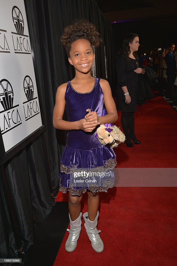 Quvenzhane Wallis attends the 38th Annual Los Angeles Film Critics Association Awards at InterContinental Hotel on January 12, 2013 in Century City, California.
