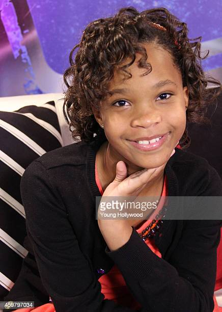 Quvenzhane Wallis visits the Young Hollywood Studio on December 1 2014 in Los Angeles California