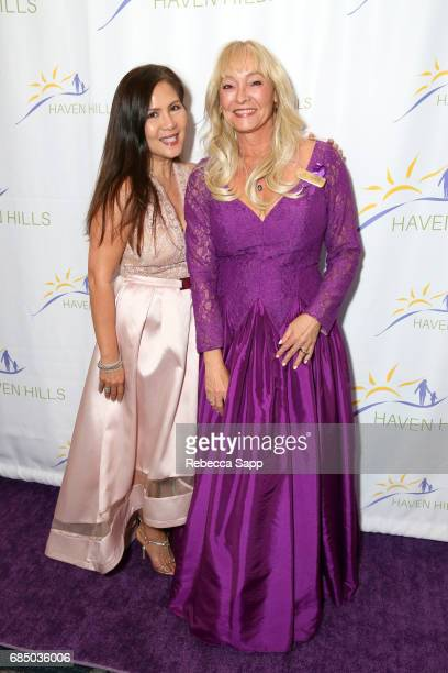 Quynh Spile and Haven Hills President Donna Laurent at Evening of Hope 2017 at Sheraton Universal on May 18 2017 in Universal City California