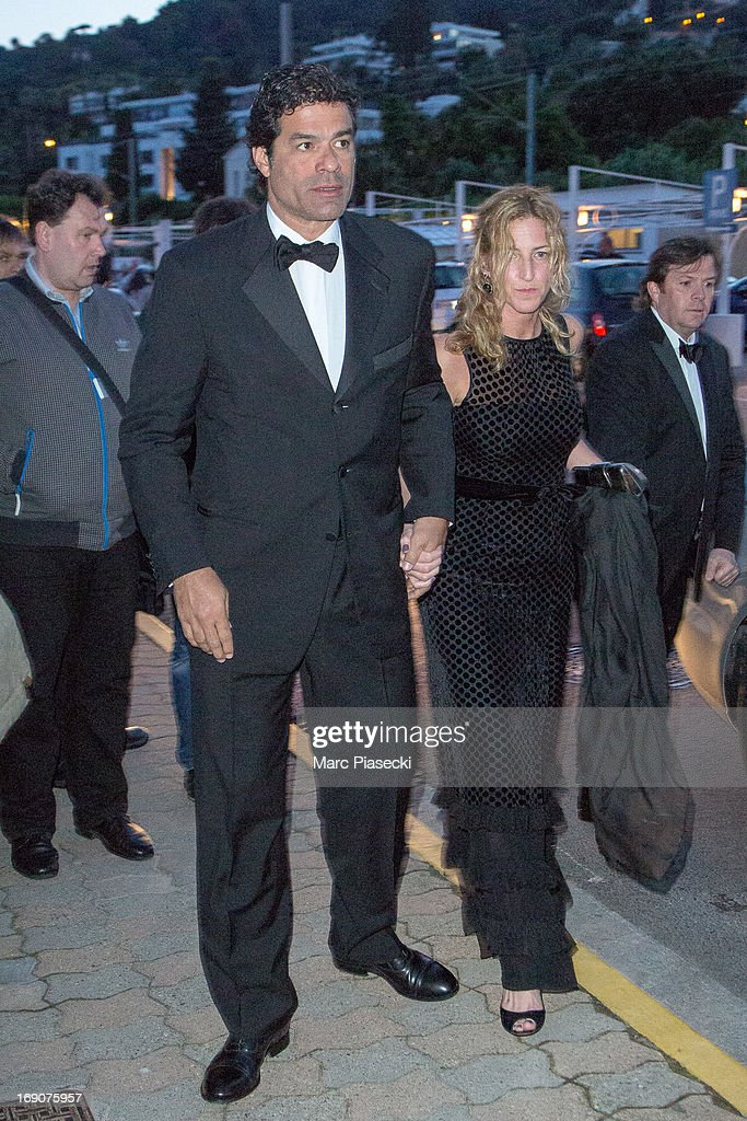 Raí Souza Vieira de Oliveira and guest arrive to attend the 'Vanity Fair Chanel' dinner at 'Tetou' restaurant during the 66th Annual Cannes Film Festival on May 19, 2013 in Le Golfe Juan, France.
