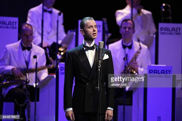 Raabe Max Musician Singer Conferencier Germany performing with the 'Palast Orchester' in Cologne Germany Lanxess Arena