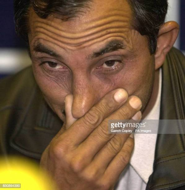 Rab Nawaz Khan who lost his wife and five young daughters in an arson attack at a news conference in Huddersfield where he said that he could not...