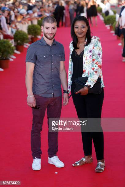Rabah Nait Oufella and guest attend closing ceremony red carpet of 31st Cabourg Film Festival on June 17 2017 in Cabourg France