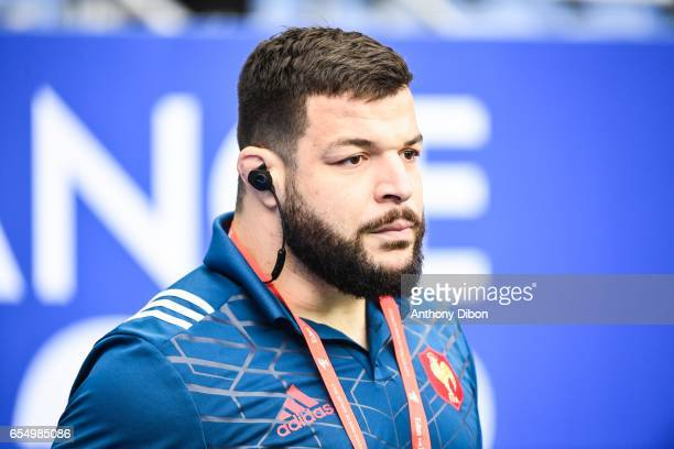 Rabah Slimani of France during the RBS Six Nations match between France and Wales at Stade de France on March 18 2017 in Paris France