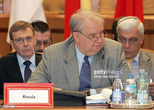 Russia's deputy foreign minister Sergei Kislyak attends a conference including G8 members to discuss nuclear terrorism prevention 30 October 2006 in...