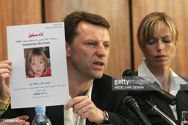 The parents of Madeleine McCann Kate and Gerry the fouryearold British girl who vanished in Portugal more than a month ago give a press conference to...