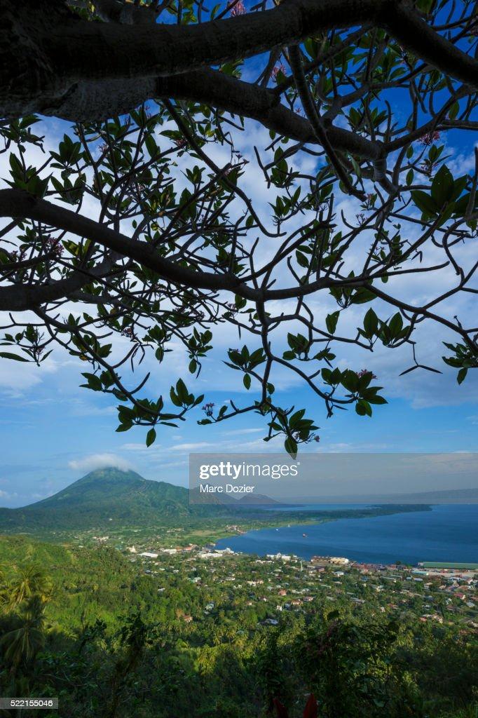 Rabaul city in Papua New Guinea