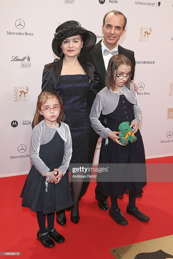 Rabbi Daniel Alter and his family attend the 'BAMBI Awards 2012' at the Stadthalle Duesseldorf on November 22, 2012 in Duesseldorf, Germany.