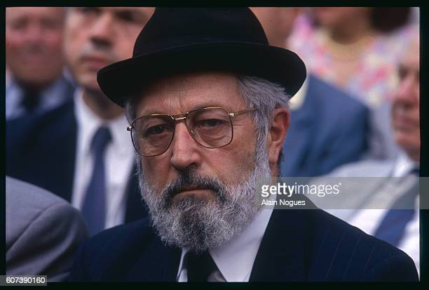 Rabbi Goldman at the anniversary commemoration of the raid on Paris from July 1617 1942 during which 13152 Jews were deported to German death camps...