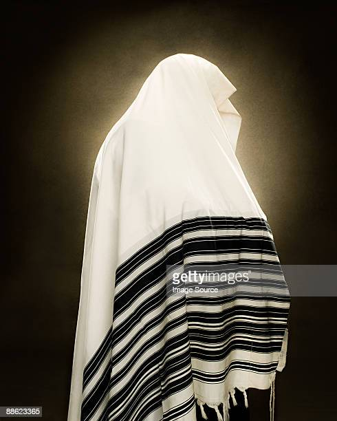 A rabbi wearing a prayer shawl