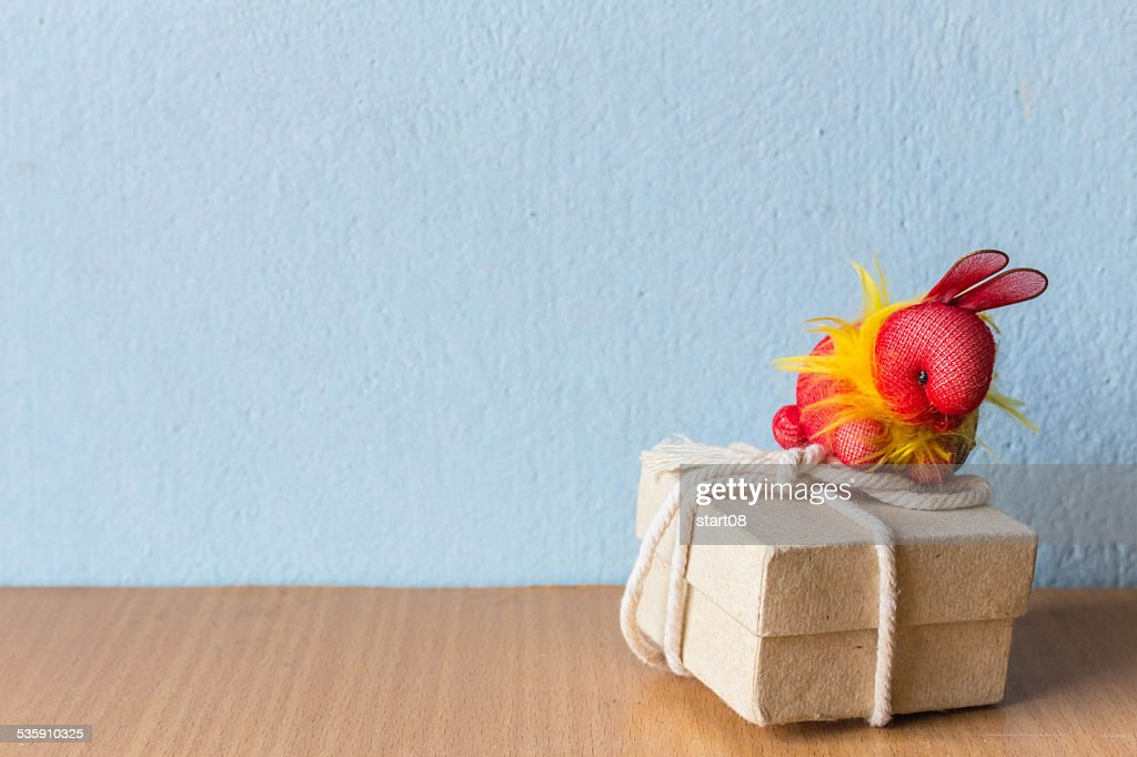 Rabbit and gifts : Stock Photo