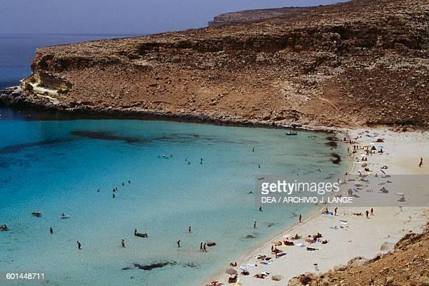 Rabbit beach on Lampedusa Sicily Italy