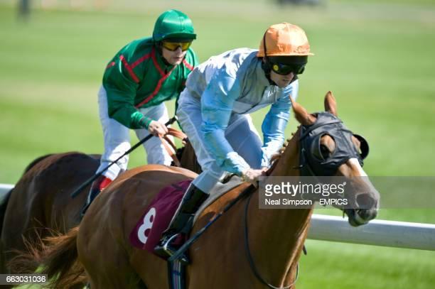 Rabbit Fighter ridden by Paul Mulrennan and Topflightcoolracer ridden by Liam Jones in The Jobsmine Handicap Stakes