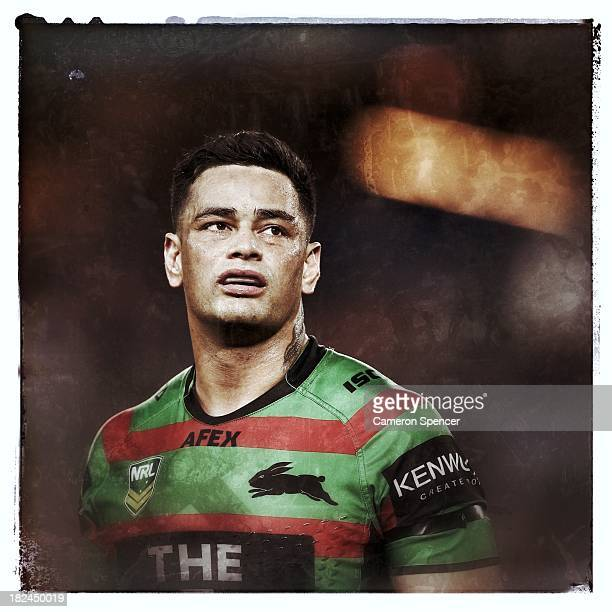 Rabbitohs captain John Sutton looks dejected during the NRL Preliminary Final match between the South Sydney Rabbitohs and the Manly Warringah Sea...