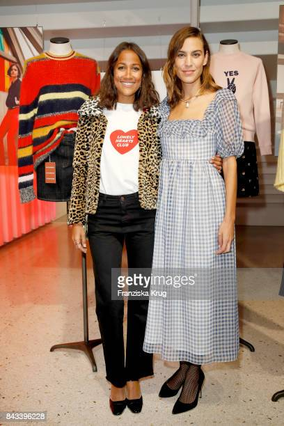 Rabea Schif and Alexa Chung attends the UZwei Store Opening on September 6 2017 in Hamburg Germany