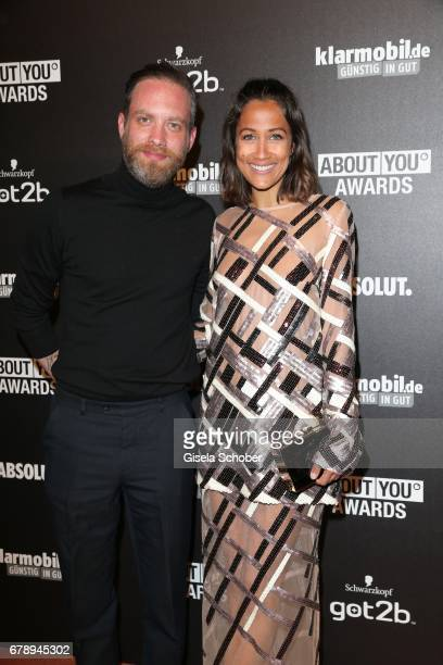 Rabea Schif and her husband David Gergeley during the ABOUT YOU AWARDS at the 'Mehr Theater' in Hamburg on May 4 2017 in Hamburg Germany