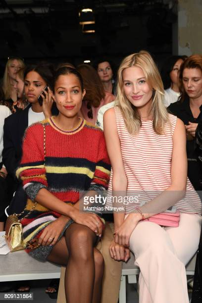 Rabea Schif and Mandy Bork attend the Malakaraiss show during the MercedesBenz Fashion Week Berlin Spring/Summer 2018 at Kaufhaus Jandorf on July 5...