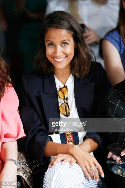Rabea Schif attends the Laurel show during the MercedesBenz Fashion Week Berlin Spring/Summer 2018 at Kaufhaus Jandorf on July 4 2017 in Berlin...