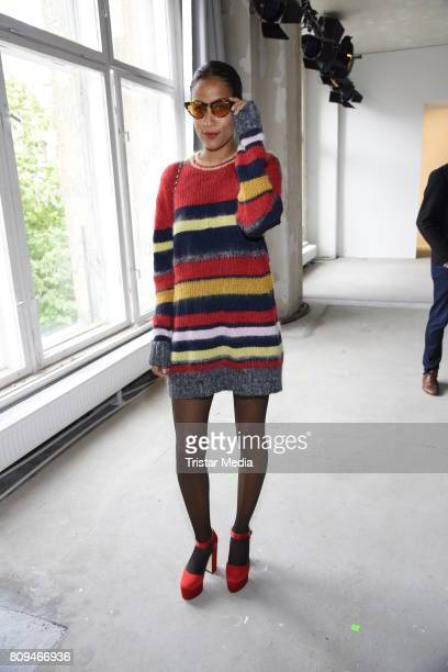 Rabea Schif attends the Malakaraiss show during the MercedesBenz Fashion Week Berlin Spring/Summer 2018 at Kaufhaus Jandorf on July 5 2017 in Berlin...