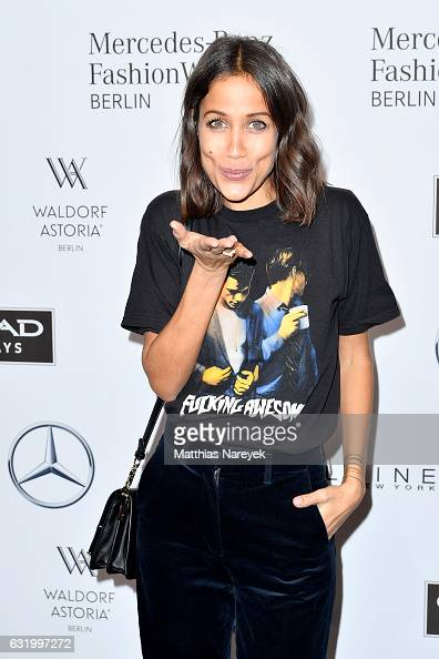 Rabea Schif attends the Perret Schaad show during the MercedesBenz Fashion Week Berlin A/W 2017 at Kaufhaus Jandorf on January 18 2017 in Berlin...