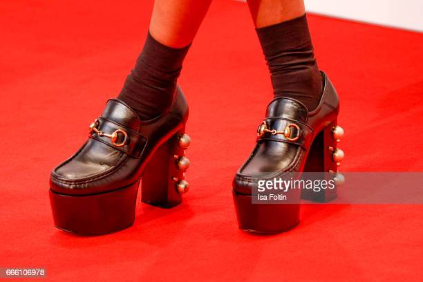 Rabea Schif shoe detail during the Echo award red carpet on April 6 2017 in Berlin Germany