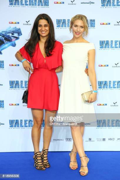 Rabeah Rahimi and Julia Dietze attend the German premiere of the 'Valerian Die Stadt der Tausend Planeten' at CineStar on July 19 2017 in Berlin...