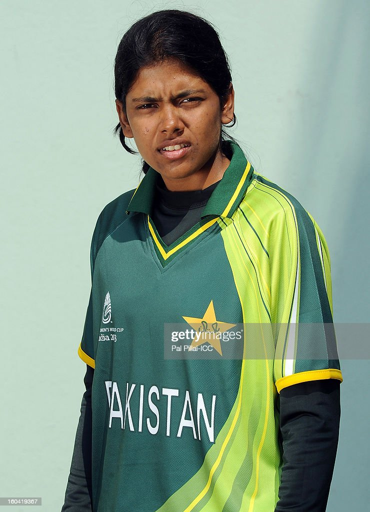 Rabiya Shah of Pakistan attends a portrait session ahead of the ICC Womens World Cup 2013 at the Barabati stadium on January 31, 2013 in Cuttack, India.