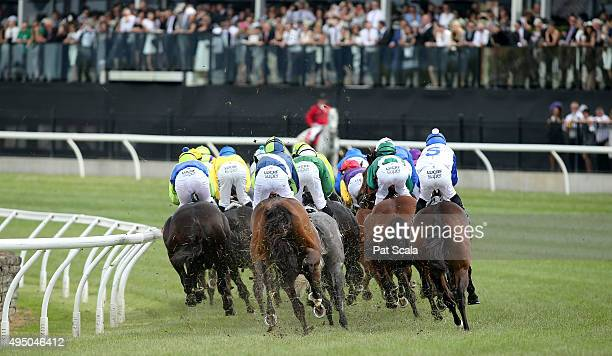 Race 7 The AAMI Victoria Derby on Derby Day at Flemington Racecourse on October 31 2015 in Melbourne Australia