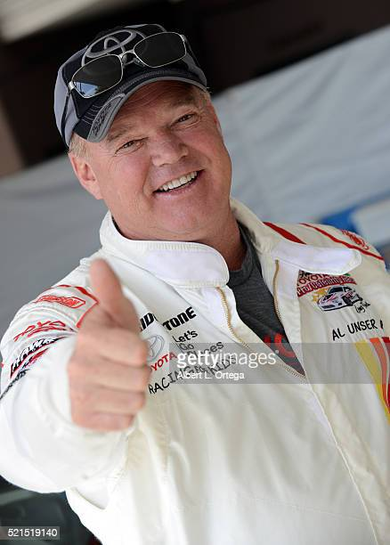 Race car driver Al Unser Jr at the 42nd Toyota Pro/Celebrity Race Qualifying Day on April 15 2016 in Long Beach California