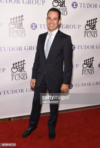 Race car driver and Dancing With the Stars winner Helio Castroneves attends the 32nd Annual Great Sports Legends Dinner at New York Hilton Midtown on...