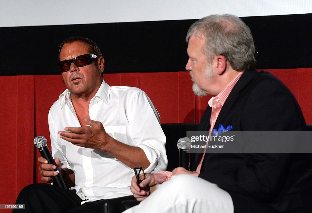 Race car driver Chad McQueen and VP of Original Productions for TCM Tom Brown attend 'Le Mans Behind the Scenes' special conversation during the 2013...