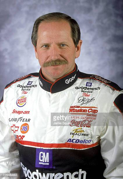 Race car driver Dale Earnhardt Sr poses for a portrait during Daytona Speedweek February 10 2000 in Datyona Beach Florida Earnhardt a seventime...