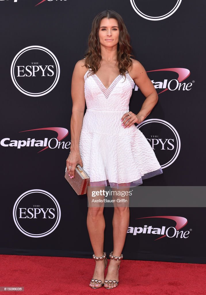 Race car driver Danica Patrick arrives at the 2017 ESPYS at Microsoft Theater on July 12, 2017 in Los Angeles, California.