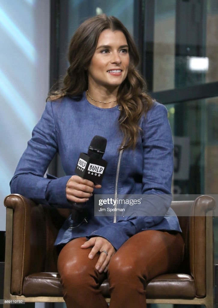 Race car driver Danica Patrick attends Build to discuss 'Danica' at Build Studio on November 1, 2017 in New York City.
