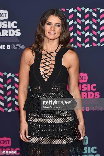 Race car driver Danica Patrick attends the 2016 CMT Music awards at the Bridgestone Arena on June 8 2016 in Nashville Tennessee