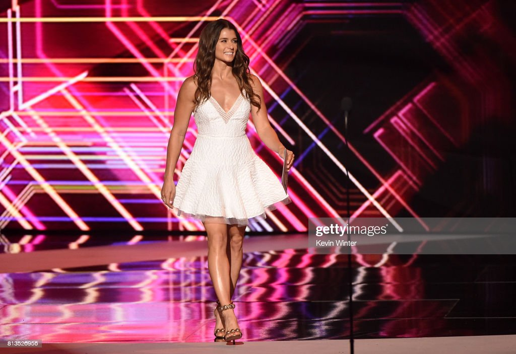 Race car driver Danica Patrick walks onstage at The 2017 ESPYS at Microsoft Theater on July 12, 2017 in Los Angeles, California.