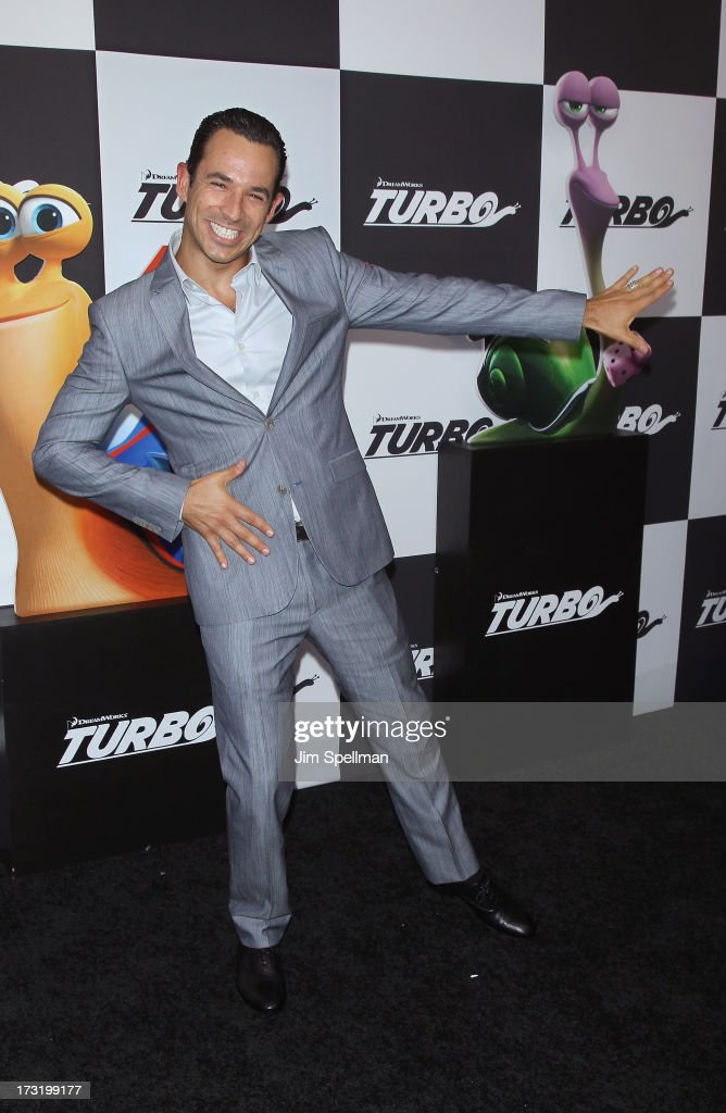 Race Car Driver Helio Castroneves attends the 'Turbo' New York Premiere at AMC Loews Lincoln Square on July 9, 2013 in New York City.