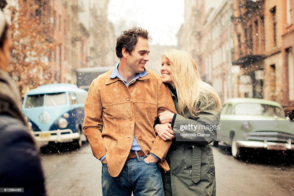 Race car driver Jimmie Johnson and his wife Chandra Janway are photographed for ESPN Magazine, The Music Issue on January 28, 2013 in New York City. PUBLISHED
