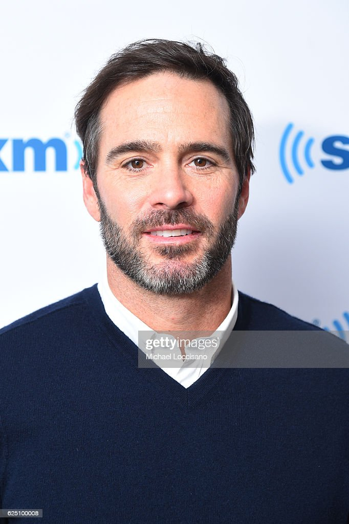Race car driver Jimmie Johnson visits SiriusXM at SiriusXM Studio on November 22, 2016 in New York City.